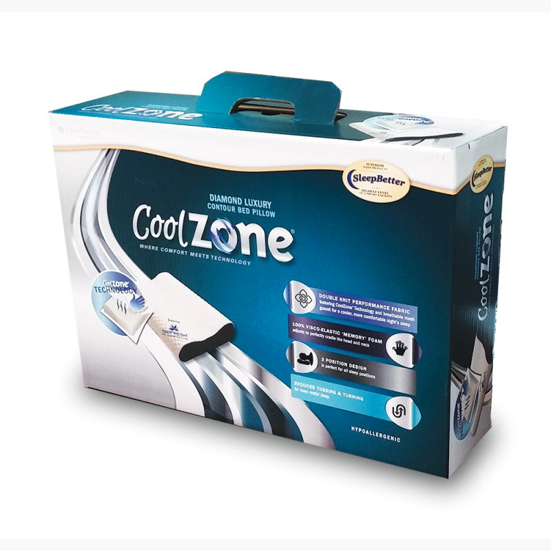 ProCorr Display and Packaging Portfolio Cool Zone Bed Pillow Graphic Packaging