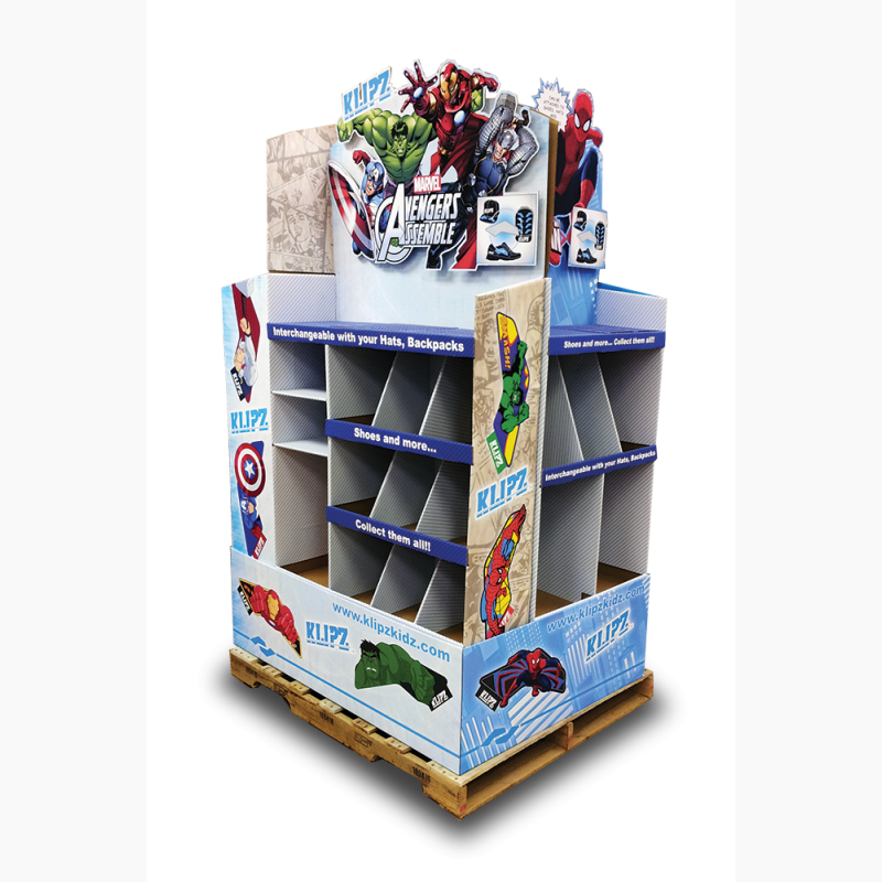 ProCorr Display and Packaging Portfolio Marvel Avengers Pallet Display