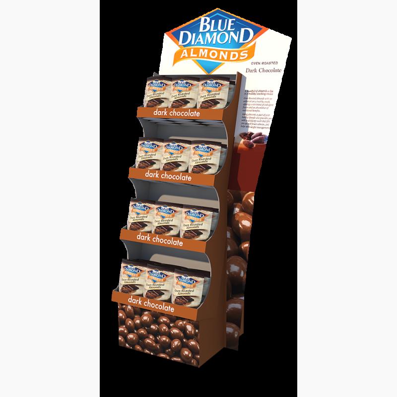 ProCorr Displayand Packaging Portfolio Blue Diamond Dark Chocolate Floor Display