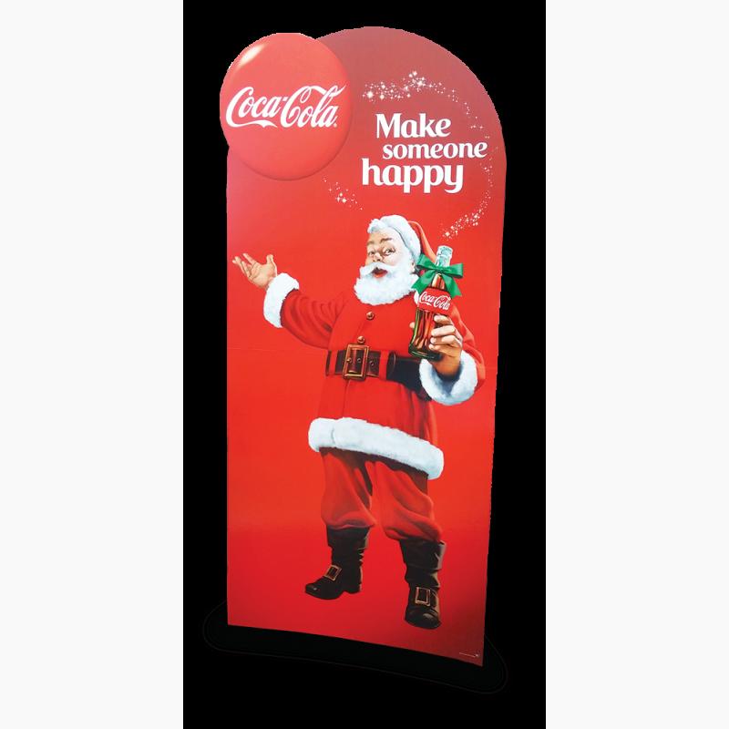ProCorr Display and Packaging Portfolio Coca Cola Christmas Santa Standee Display